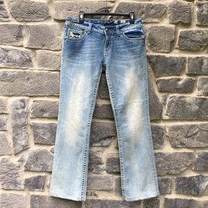 Miss Me Jeans Rhinestone Stitch Bootcut